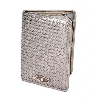 Elliott Lucca Dark Gold Leather Woven E Reader Kindle, Kindle Touch