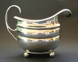 Emes Barnard Antique English Georgian Sterling Silver Cream Milk Jug