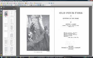 Old Four Toes Edwin L Sabin Mountain Men Man Novel Book