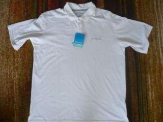 Columbia Elm Creek Man Short Sleeves UPF 15 White Shirt Brand New $45
