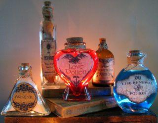Bottles Halloween Prop Decoration Love Potion Arsenic Mugwort Life EEK