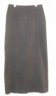 Geoffrey Beene Sport Stretch Long Dark Gray Skirt Sz 2