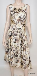 99 Evan Picone Fresh Picked Sleeveless Dress Top Stone Comb Floral 12