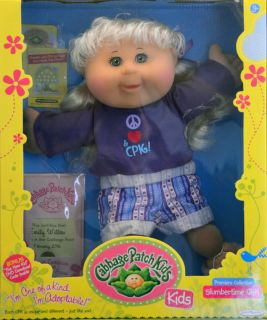 Cabbage Patch Kids Doll Maggie Addie Blonde Hair Blue Eyes Freckles