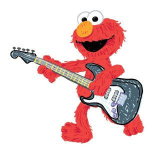 New Large ELMO ROCK & ROLL WALL DECALS Sesame Street Stickers Kids