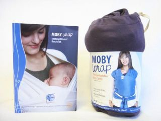 moby wrap organic cotton wrap baby carrier eggplant