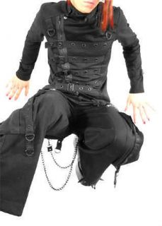 TRIPP GOTH PUNK EMO PSYCHO BAND BONDO JACKET HALLOWEEN COAT PIRAT
