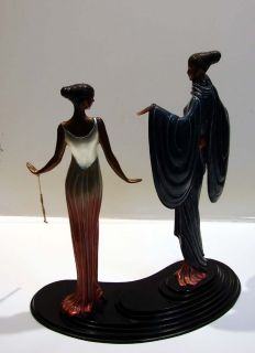 Erte Bronze Sculpture Dream Birds 1988 2 Women Stevenarts Make An