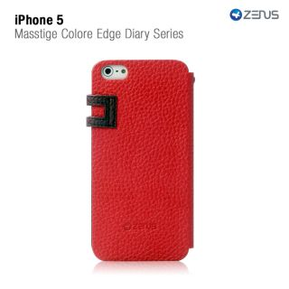 Red Two Tone Protective Case Wallet for iPhone 5 Diary Series Credit
