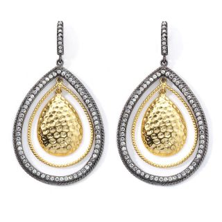 Jewelry Earrings Drop Real Collectibles by Adrienne® Three Layer