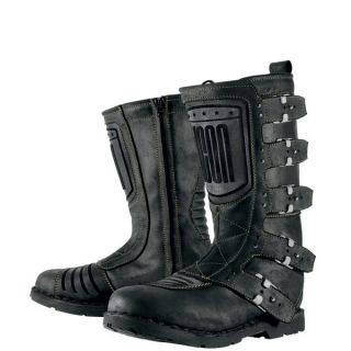 Icon 1000 Elsinore Motorcycle Boots Johnny Black 11 5 US