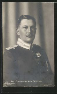Imperial Germany 1910 Prinz Eitel Friedrich in Garde Uniform Photo