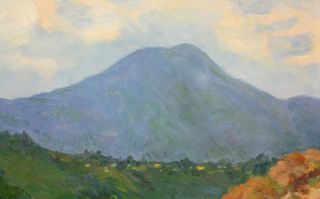 Old El Cajon California MT Miguel Plein Air Oil Painting Listed Artist