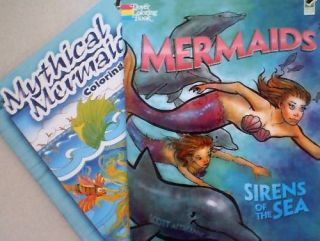 Mermaids Sirens of The Sea Mythical Mermaids Coloring Books New