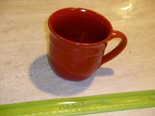 Emile Henry France Moedela Depose 8844 Red Inside and Out 4 Mug Never