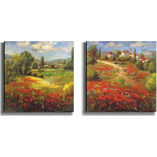 Country Village Canvas Wall Art by Hulsey   Set of 2
