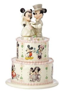 Lenox Minnies Wedding Day Wishes Mickey Cake Topper Figurine *New in