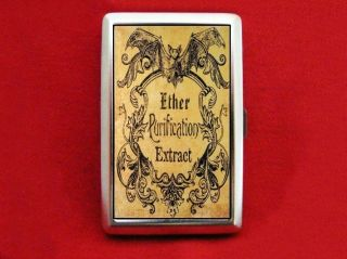 Vampire Bat Antique Ether Label Cigarette ID iPod Case