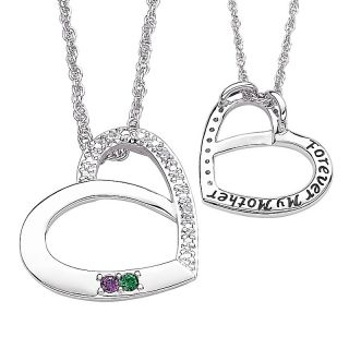 crystal and diamond heart shaped pendant with chain rating 2 $ 52