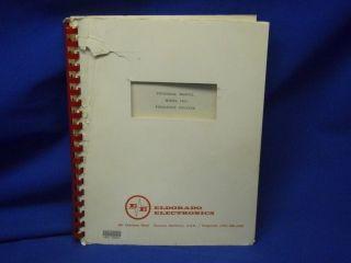 Eldorado Model 1615 Frequency Counter Technical Manual