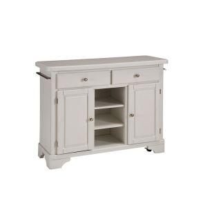 Home Styles Premium Adjustable Kitchen Cart   White