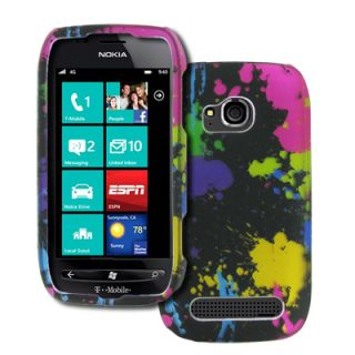 Empire Hard Rubberized Case Cover Paint Splatter T Mobile Nokia Lumia