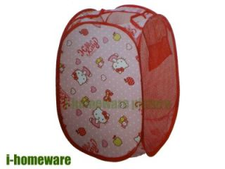 Hello Kitty Pop Up Laundry Storage Basket Bin Bag H842