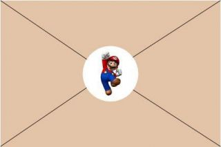 Mario Brothers Kart Birthday Party Invitations Stickers Envelope Seals