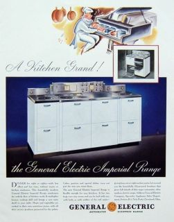 1935 General Electric Imperial Range Kitchen Grand Chef Piano Stove