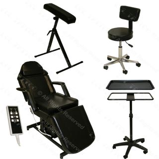 Tattoo Package Electric Massage Table Chair Stool Tray Arm Bar Studio