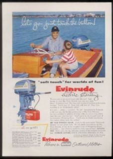 1955 Evinrude Big Twin Electric Outboard Boat Motor Ad