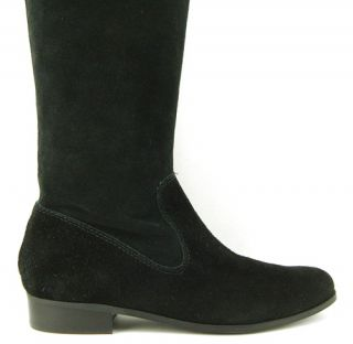 ENZO ANGIOLINI RANDIES Black Suede Womens Shoes Over The Knee Boots 6