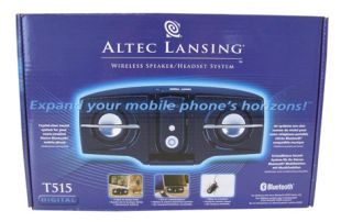Altec Lansing Bluetooth Stereo Speakers Headphones T515