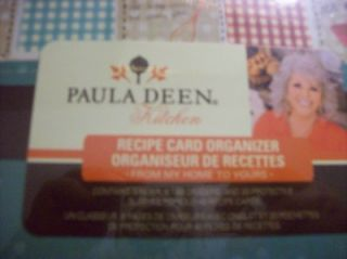 Paula Deen Recipe Card Organizer Patchwork
