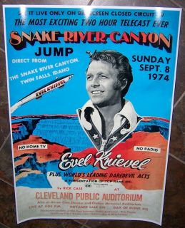 Evel Knievel Snake River Canyon Jump Poster Cool Evil