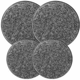 New Reston Lloyd Electric Stove Burner Covers Set of 4 Black Granite