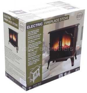 Free Standing Portable Electric Fireplace Stove Space Heater 5100 BTU
