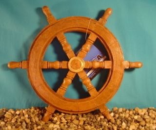 New Extra Large Captains Wheel Fish Tank Ornament 82533
