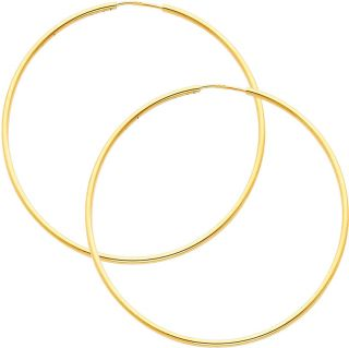5mm thickness high polished extra large endless hoop earrings