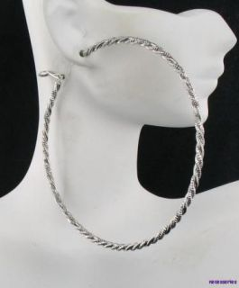 25 Silver Cross Cut Twisted Extra Large Sexy Hoop Hoops Earrings New