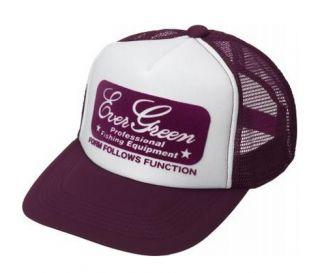 Evergreen Cap Pop Cap Original Japan Free Size Maroon White