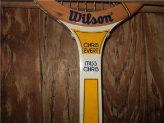Vintage 1970s Miss Chris Chris Evert Tennis Racket Racquet by Wilson