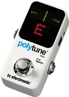 dealer full warranty tc electronic polytune mini chromatic pedal tuner