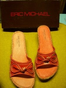 Eric Michael Red Patent Leather Sandals Lucia Bric 8