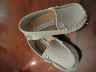 Little Baby Boy Girl Elephantito Green Loafer Shoes