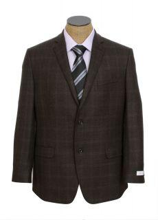 New Joseph Abboud 2 Button Brown Wool Sport Coat Jacket