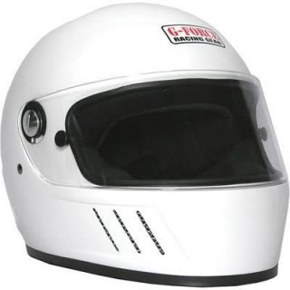 Force 3003LRGWH Pro Elim Full Face Helmet Large White