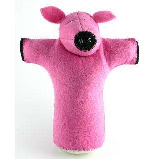 Home Pet Care Pet & Dog Toys Isabella Cane 100% Wool Dog Toy   Pig