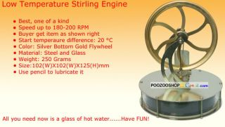 New Low Temperature Stirling Engine Free Shipping Niedertemperatur