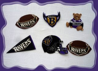 Baltimore Ravens NFL Fabric Iron on Appliques 6pc